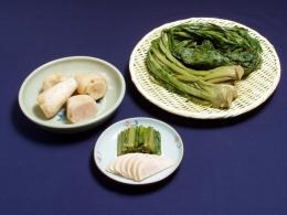 稲核菜と稲核菜カブの漬物