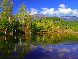 一の瀬園地-まいめの池からの乗鞍岳