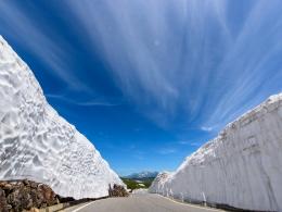 乗鞍_雪の壁