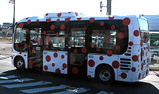 Yayoi Kusama Came to Her Hometown, Matsumoto, to Unveil Kusama-Designed Bus!