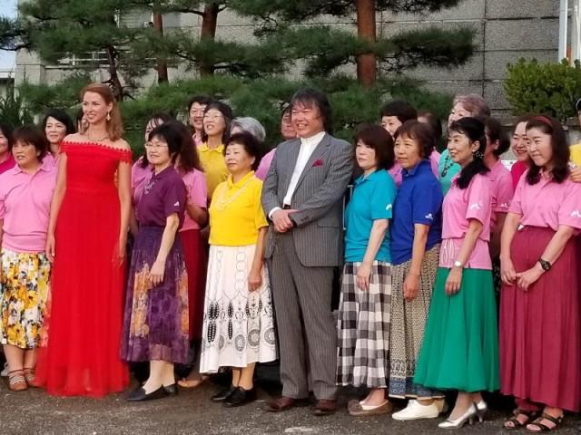 SK松本合唱団 ロシア訪問団と交流
