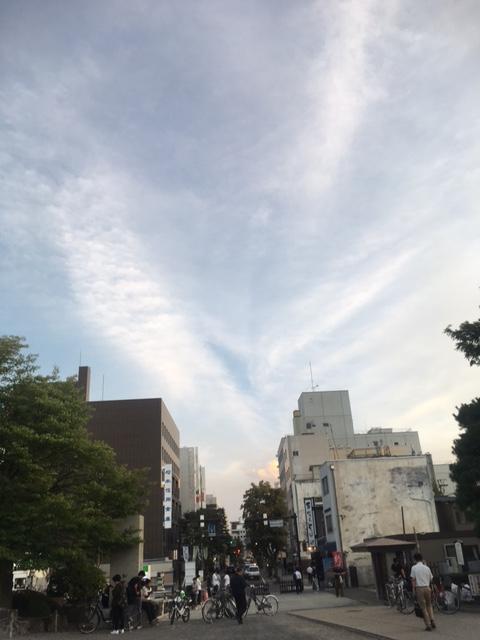Pokémon GOと今日の松本の空