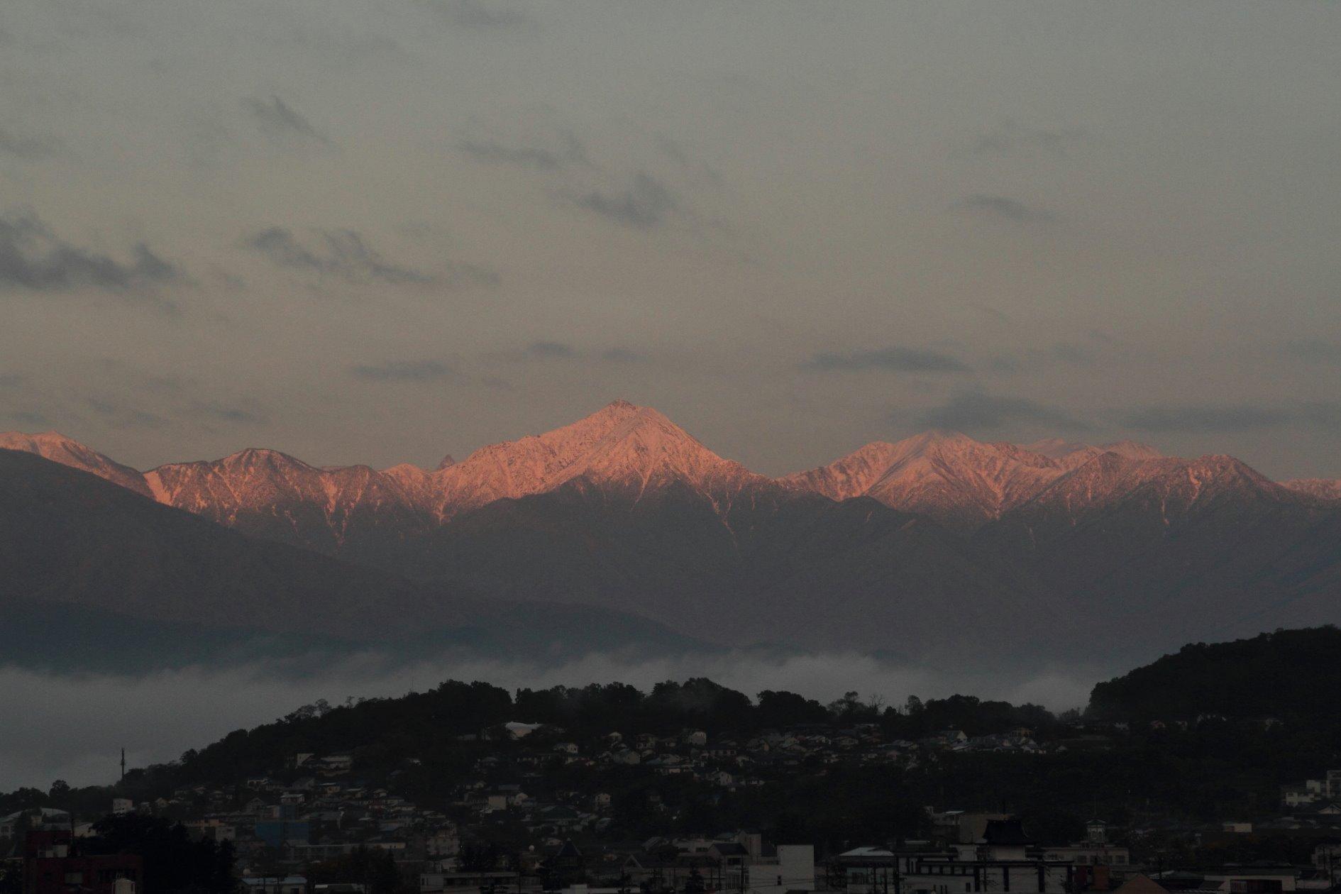 常念岳は、冬になりました!