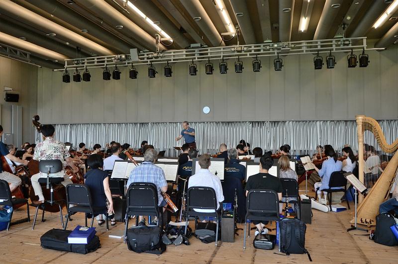 OMFオペラ「エフゲニー・オネーギン」オーケストラリハーサル